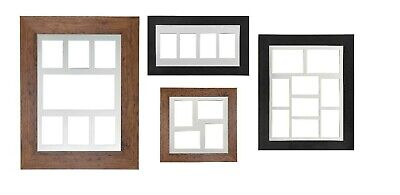 Multi Aperture Collage Picture Photo Frames Choice of Mount Design Rustic /Black