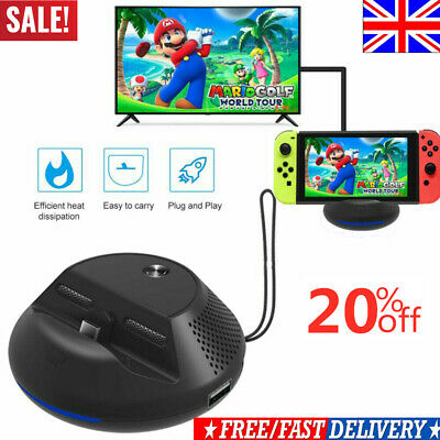 Portable TV Dock Switch Converter HDMI Charging Base Station & Nintendo Switchs.