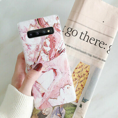 Case Cover Silicone Soft Pattern Marble Matte For Samsung Galaxy S10+ S10e S9 S8