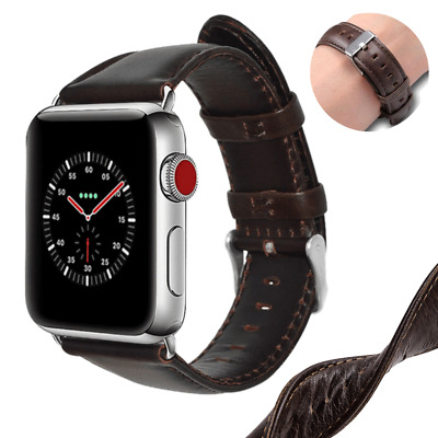 Genuine Leather Band Strap For iWatch Apple Watch Series 4 3 2 1 38/40mm 42/44mm