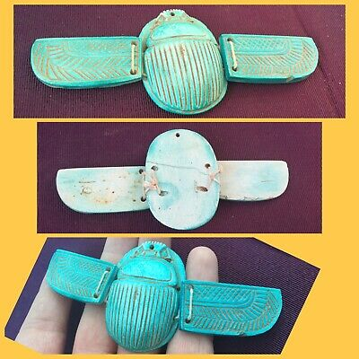 Rare Ancient Egyptian Winged Scarab Beetle 664/332BC