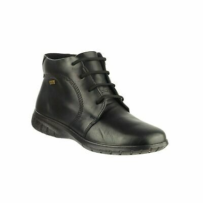 Cotswold Bibury Womens Black Waterproof Leather Lace Up Ankle Boots