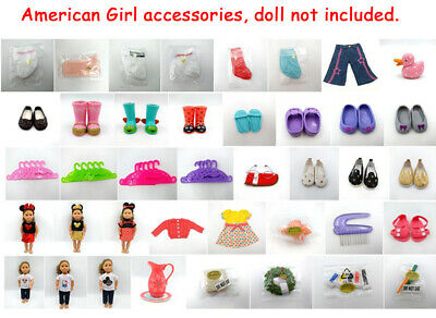 Fit For 18'' American Girl Wellie Wishers Doll Clothes Hangers Accessories Shoes