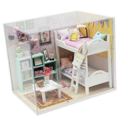 Wooden Miniature 3D Doll House 1:24 with Furniture Accessory - Best Friends