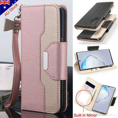 Samsung Galaxy S9 S8 S10+ Note 10+ Magnetic Flip Cover Stand Wallet Leather Case