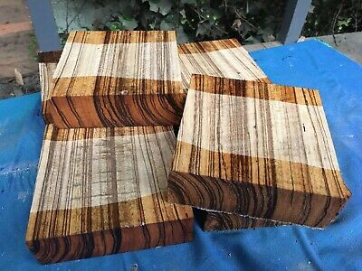 "Zebrano Bowl Blank/woodturning/exotic Woods 6x6x2"" Exotic Hardwoods"
