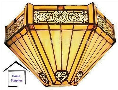 Period Style Tiffany Glass Handcrafted Wall Light/Uplighter