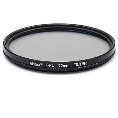 CPL Polarising Filter Ø 72mm universal metal black for Camera