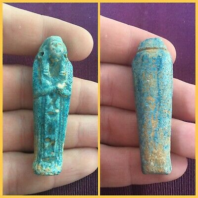 Here is a rare ancient Egyptian shabti ushabti , 664-332