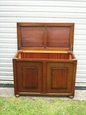 Vintage Wooden Oak Trunk Chest Blanket Box Rustic Coffee Table