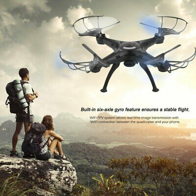 X5SW-1 6-Axles Gyro RC Quadcopter 2.4G 4 CH Drone con 0.3MP WiFi FPV Camera #