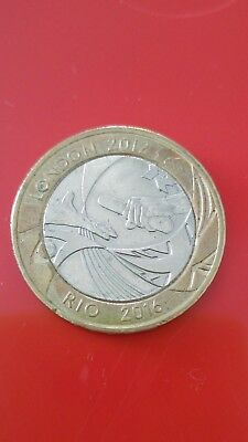 2012 London To Rio Olympic £2 Coin  British Coins. Circulated Condition