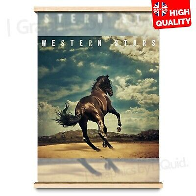 Western Stars Bruce Springsteen Music Album Cover Art Poster | A4 A3 A2 A1 |