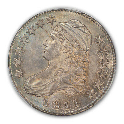 1811 50C Small 8 Capped Bust Half Dollar PCGS MS65