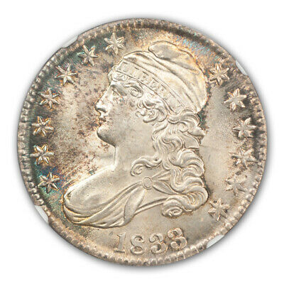 1833 Capped Bust, Lettered Edge 50C NGC MS65+