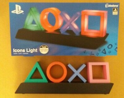 luce playstation lampada icons light