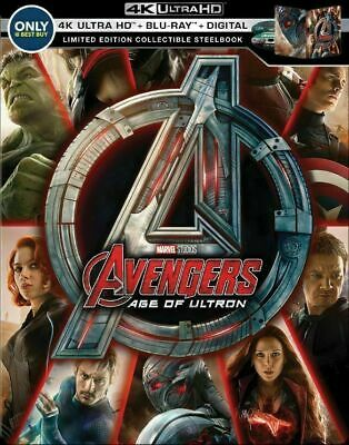 The Avengers: Age of Ultron Limited Edition Steelbook [4K+Blu-ray] New!!!!