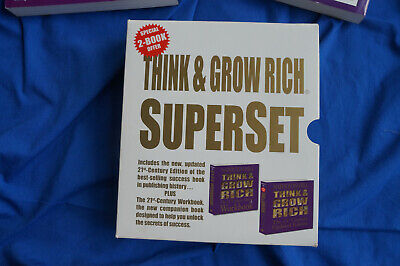 Think and Grow Rich Superset, Napoleon Hill, Paperback Books, 2 Volumes, Used