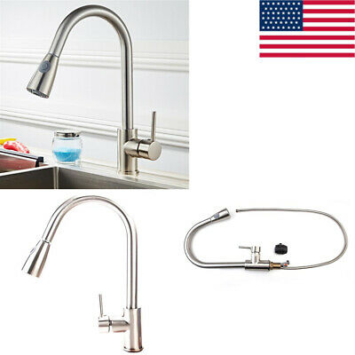 Copper Kitchen Pull-out Faucet Single Hole Porous Portable Practical Durable US