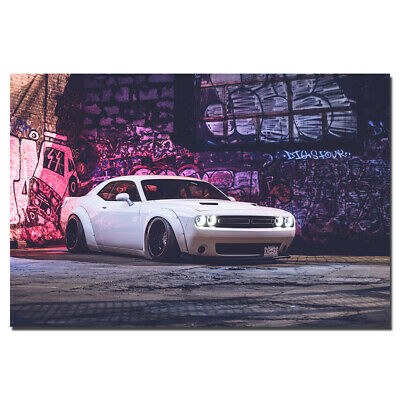 Dodge Challenger Supercar Poster Wall Art Picture for Living Room 24X36inch
