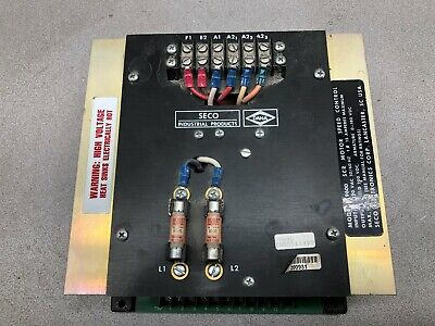 Used Seco Electronics 2 Hp 220 Vac 1 Ph 15 Amps Input 200 Vdc Output Scr Motor S