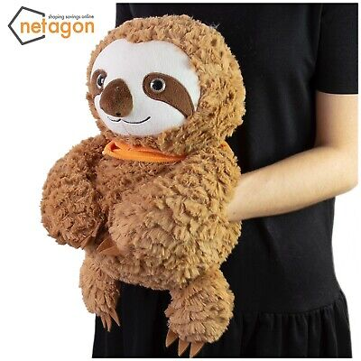 Cuddy Me Large Cosy Plush Soft Cuddly Toy Teddy Giant Hand Warmer - BROWN SLOTH