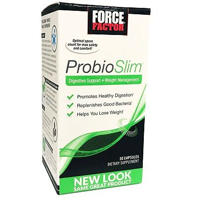 Force Factor ProbioSlim 30 Capsules Probiotic Dietary Supplement + Weight Loss