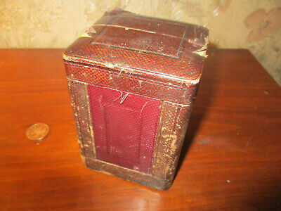 ANTIQUE CARRIAGE CLOCK TRAVEL CASE for standard sized clocks