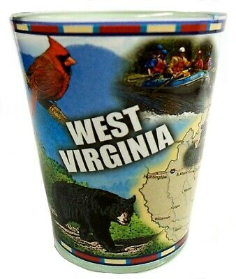 West Virginia Full Color Shot Glass