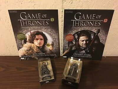 Official Collectors Model Game of Thrones Lot Of Two Jon Snow , Ned Stark New!!!