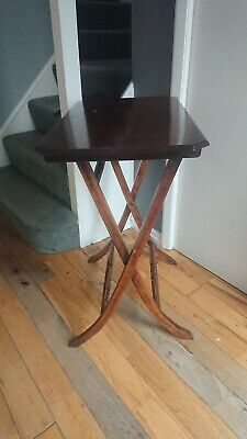 Antique Campaign/coaching table. Folding.