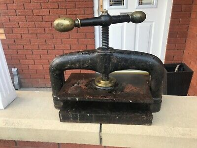 Antique Vintage Retro Cast Iron Book Press Shop Window Display Man Cave