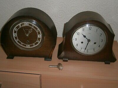 Two Enfield Mantle Clocks. Striking And None Striking