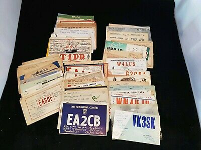 Lot of 100 Vintage QSL Cards All From the 1950s Amateur Ham Radio
