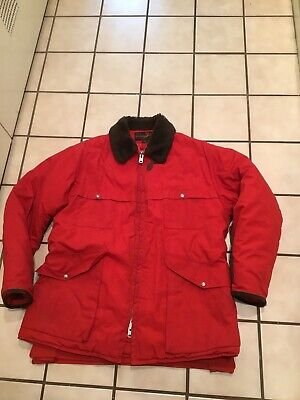 VTG 50s 60s 10-X MFG Duck Hunting Shooting Red Field Outdoor Sportsman Jacket