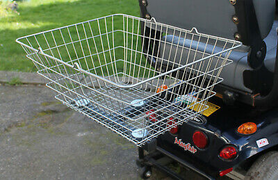Mobility Scooter Rear  Cargo Shopping Basket Wire Universal XL Large and Strong