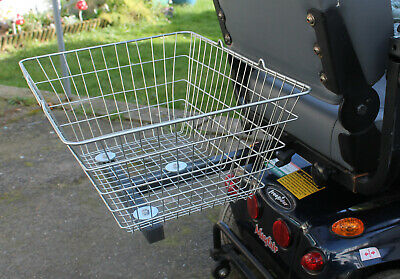 Mobility Scooter Rear Cargo Shopping Basket XL Large and Strong Wire Universal