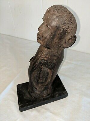 Solid Wood Hand Carved Man Sculpture African Ironwood 9 1/2""