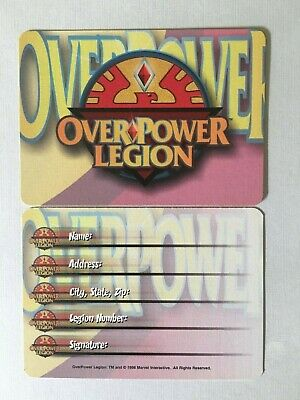 OVERPOWER CCG PROMO - OP LEGION MEMBERSHIP CARD (New) Marvel DC Image