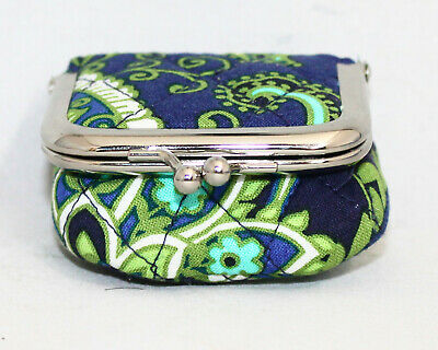 VERA BRADLEY Contact Case in Rhythm and Blues Kisslock w/ Mirror Paisley Floral