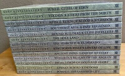 Time-Life Lost Civilizations Lot of 13 Hard Cover Books VG Condition