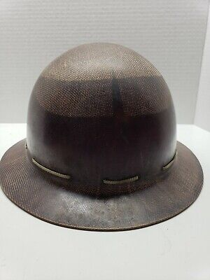 Ventage Construction Full Brim Hard Hat Old School Great Condition Carbon Fiber