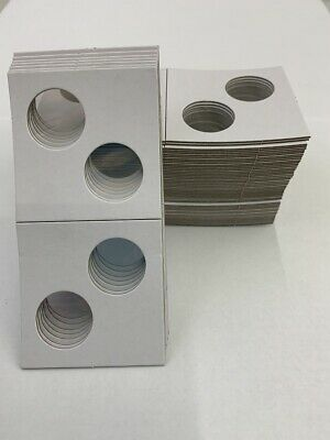 2 Hole - Penny/Cent Guardhouse 2x2 Mylar/Cardboard Coin Flips, 25 pack