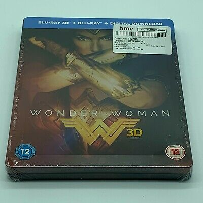 Wonder Woman Steelbook Blu Ray 3D HMV Exclusive Brand New Sealed OOP Sold Out