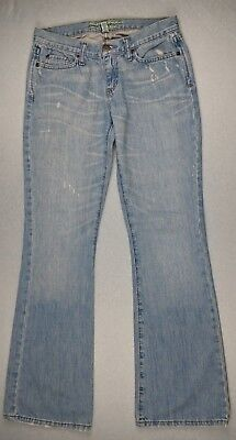 Abercrombie & Fitch Women's Jeans Size 2R Madison Stretch Flare Distressed Denim