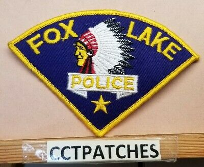 CRYSTAL LAKE ILLINOIS IL gray border POLICE PATCH
