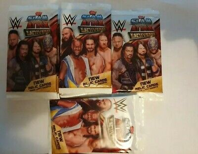 WWE Slam Attax Universe Trading Cards 2019 - 19 X NEW SEALED Packs 2019