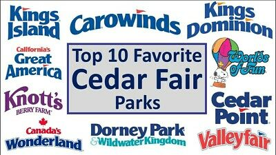 2 CEDAR FAIR PARKS TICKETS - Cedar Point, Carowinds, Kings, Knotts Berry Farm