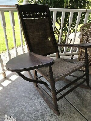 VINTAGE RARE BRUMBY STYLE PORCH ROCKER ROCKING CHAIR w/ TRAY
