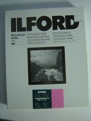 ILFORD Multigrade De Luxe IV RC Glossy 8x10 - 100 Sheets Medium Weight